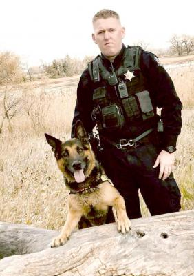 ROOKS COUNTY K-9 SERGEANT NOLAN WEISER and his German shepherd, Koda, have been partners since 2017.